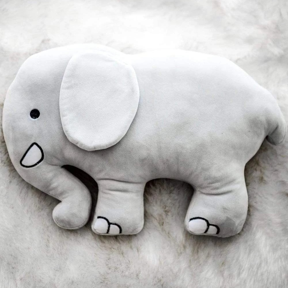Ivory Ella - Grey Elephant Pillow