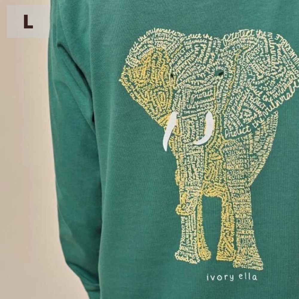 Ivory Ella Long Sleeve Shirt - Emerald Protect - L