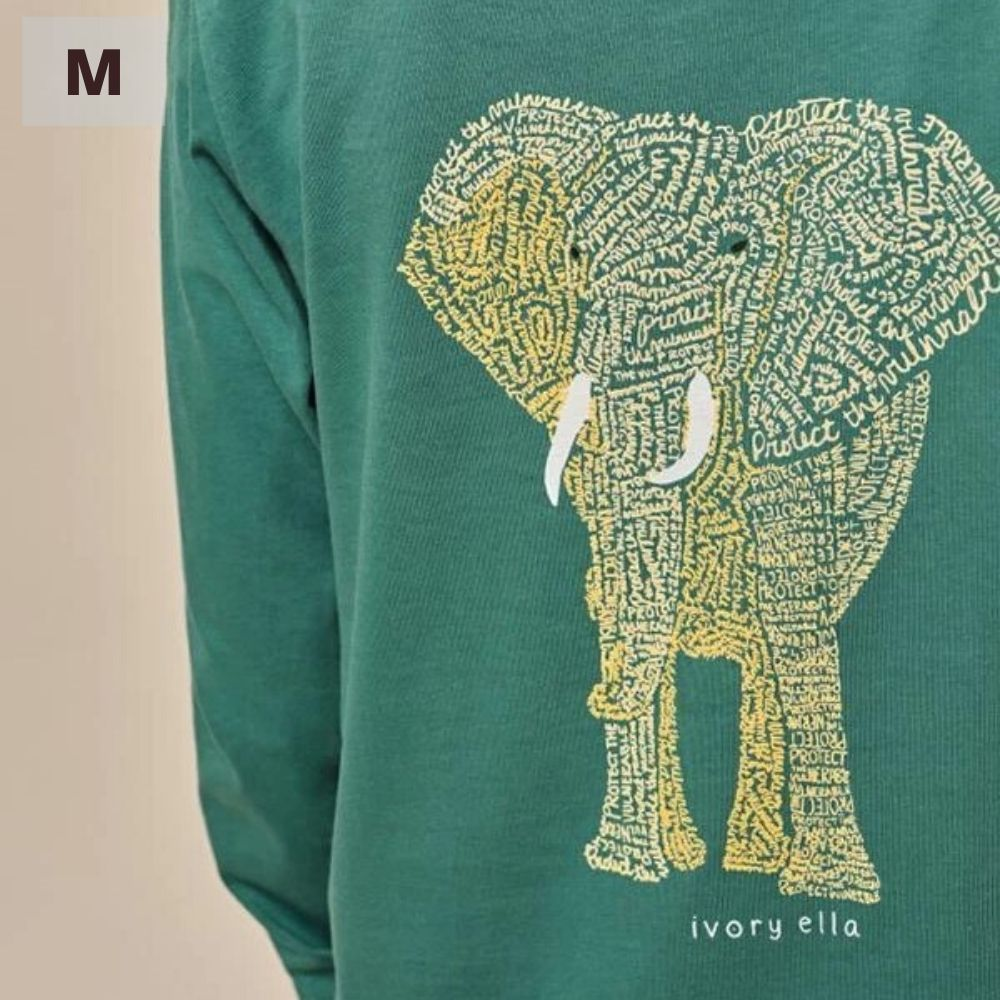 Ivory Ella Long Sleeve Shirt - Emerald Protect - M
