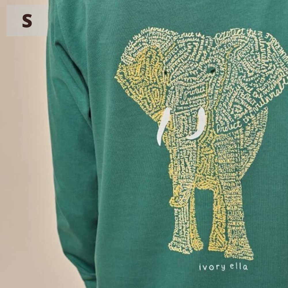 Ivory Ella Long Sleeve Shirt - Emerald Protect - S