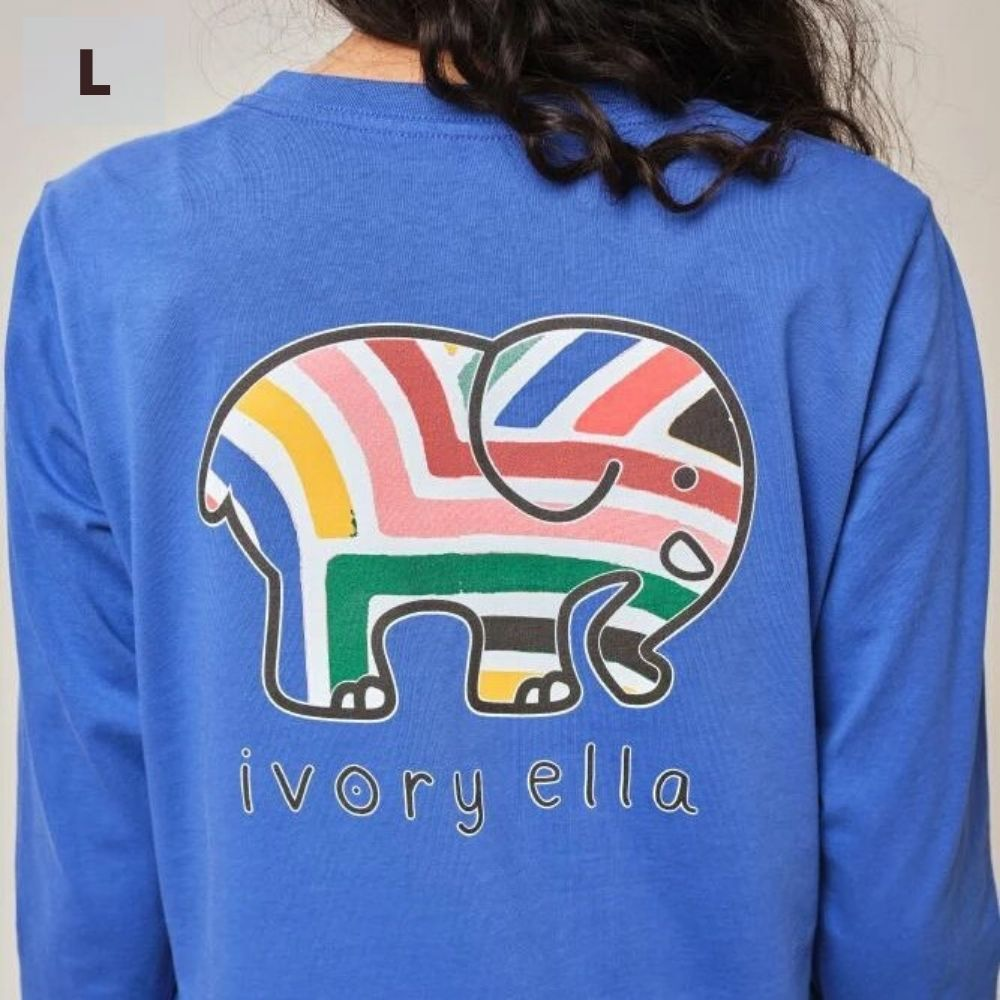 Ivory Ella Long Sleeve Shirt - Royal Sahara - L