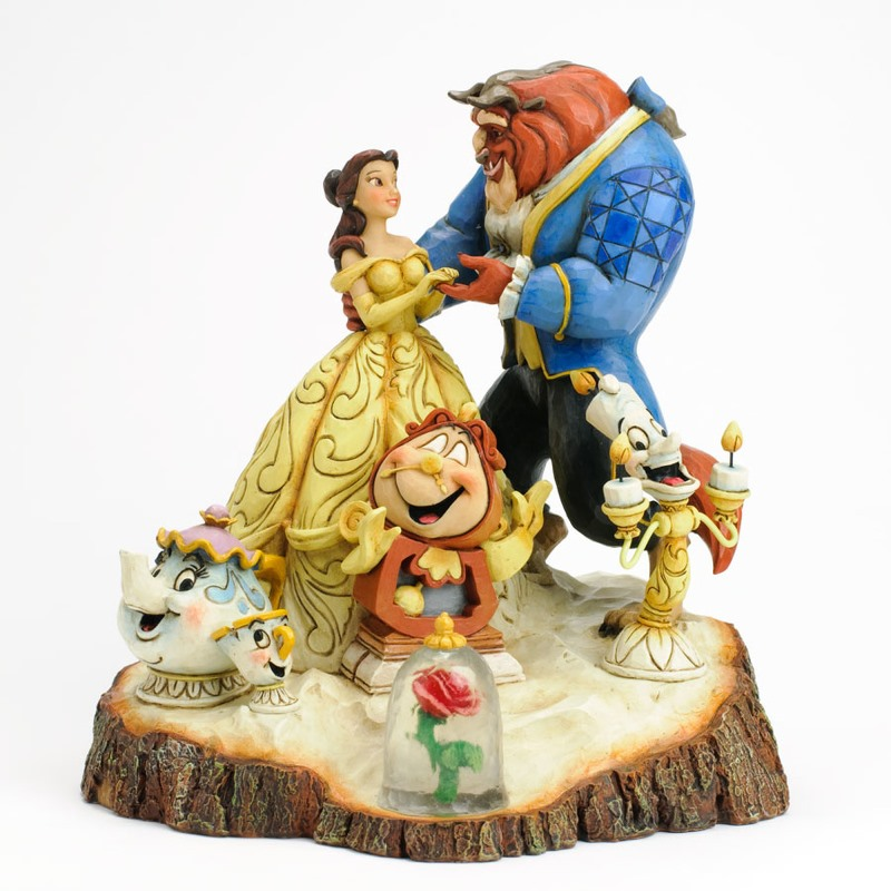 Jim Shore Figurine - Beauty and the Beast Carved by Heart