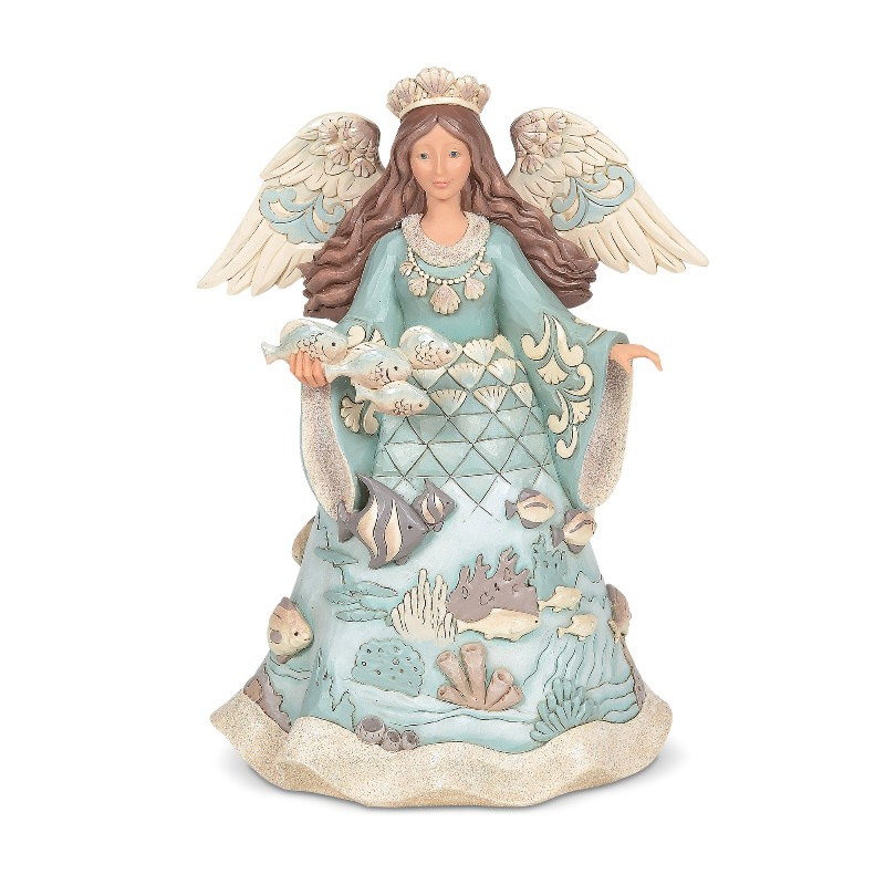 Jim Shore Figurine - Coastal Angel With Fish 2020