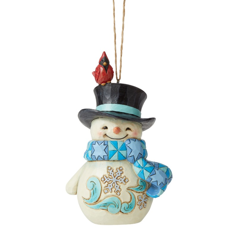 Jim Shore Figurine - Snowman with Cardinal on Hat 2020