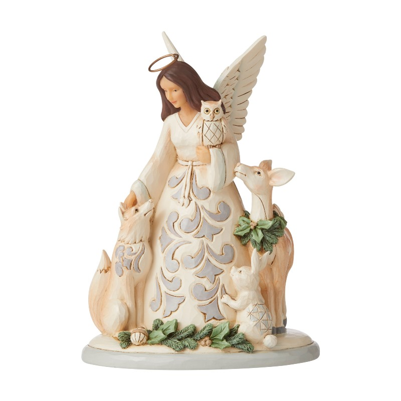 Jim Shore Figurine - White Woodland Angel/Friends 2020