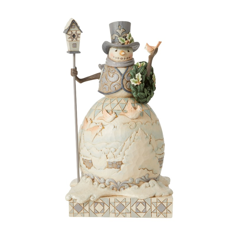 Jim Shore Figurine - Woodland Snowman with Cardinals 2020