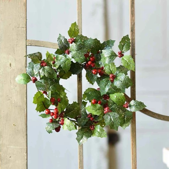Jolly Holly Candle Ring - 4.5in