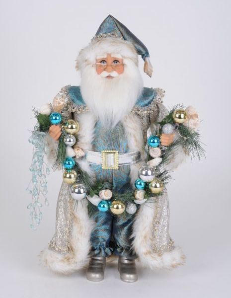 Karen Didion Santa - 16in - Lighted Coastal Swag 2020