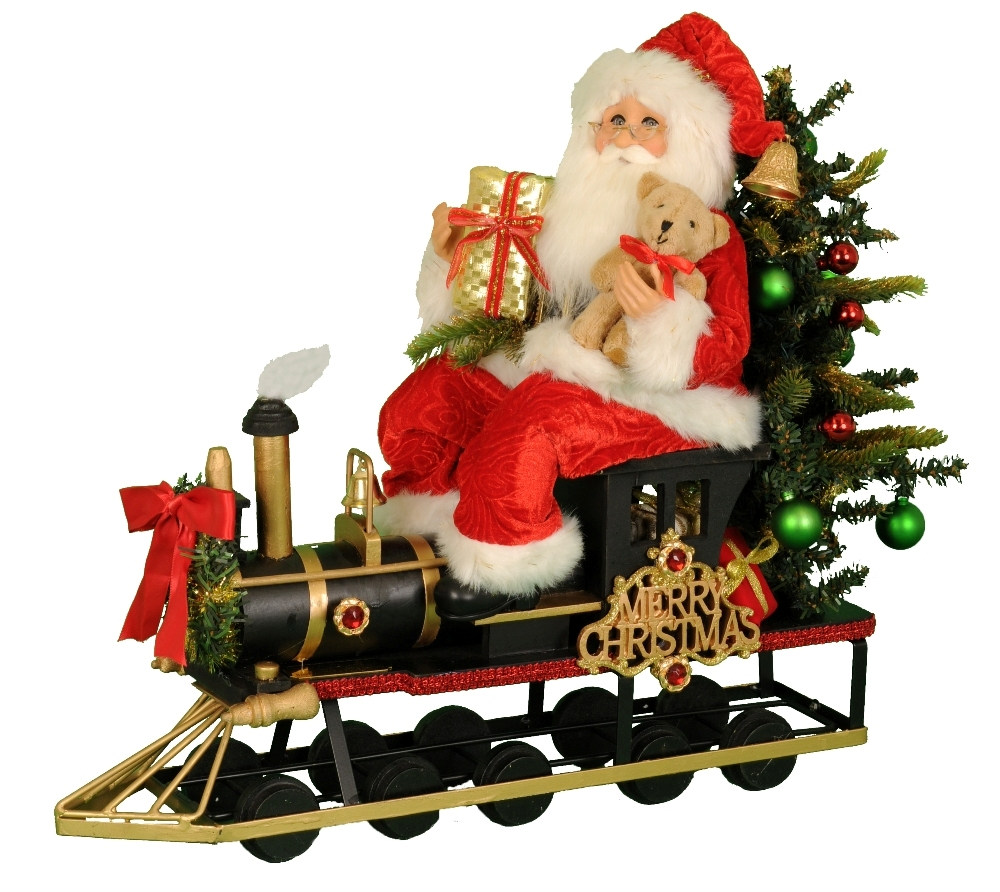 Karen Didion Santa - 18in - Limited Edition Lighted Merry Christmas Train 2018