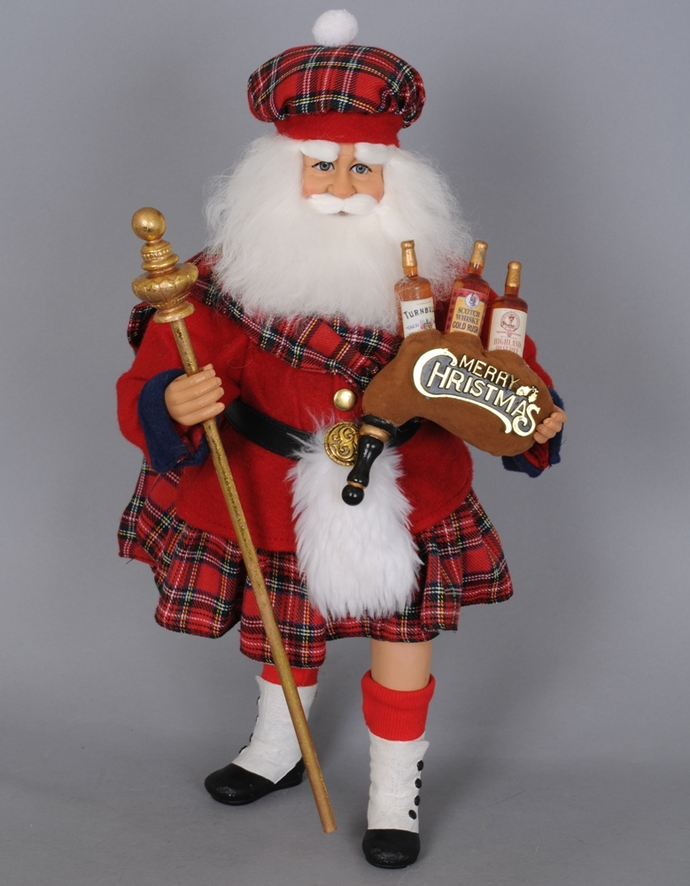 Karen Didion Santa - 16in - Scottish Santa