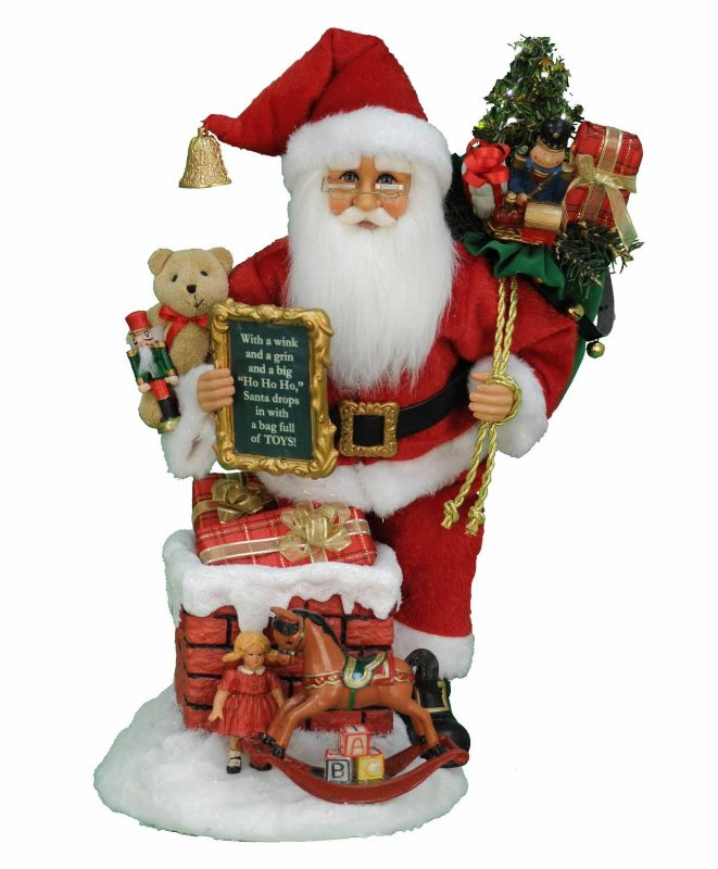 Karen Didion Santa - Signature Series - Lighted Good St Nick Chimney 2019