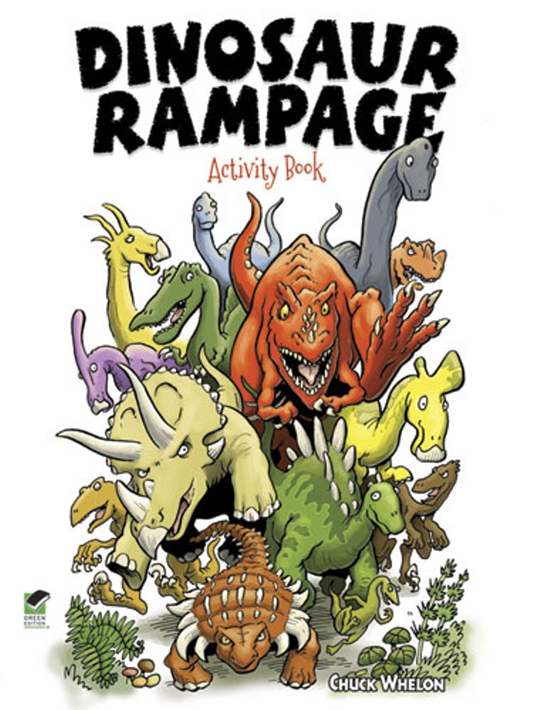 Kids Activity Book - Dinosaur Rampage Activity Book