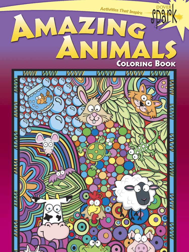 Kids Activity Book - SPARK Amazing Animals Coloring Book