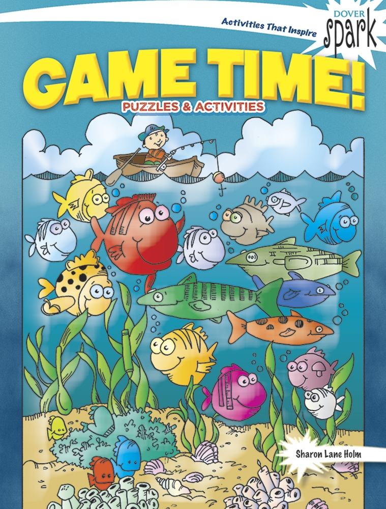 Kids Activity Book - SPARK Game Time Puzzles & Activities