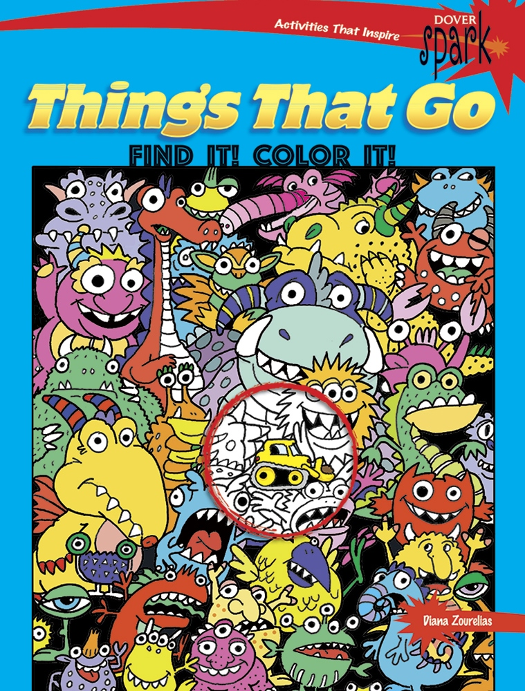 Kids Activity Book - SPARK Things That Go Find It Color It