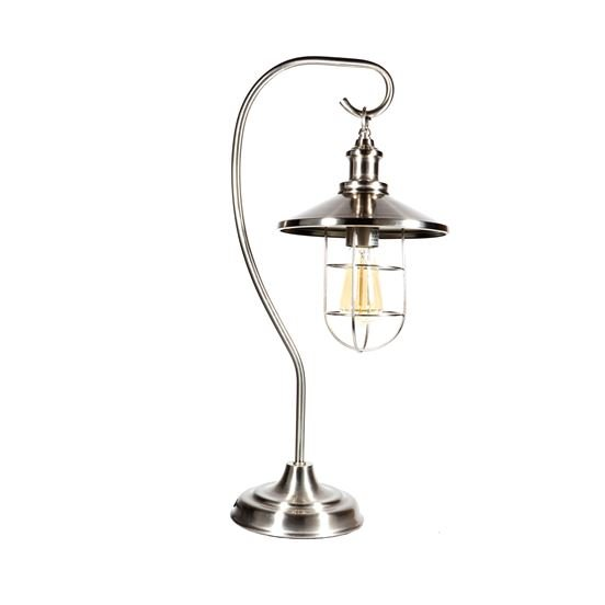 Lamp - Antique Silver Look Cage Lamp - 23in