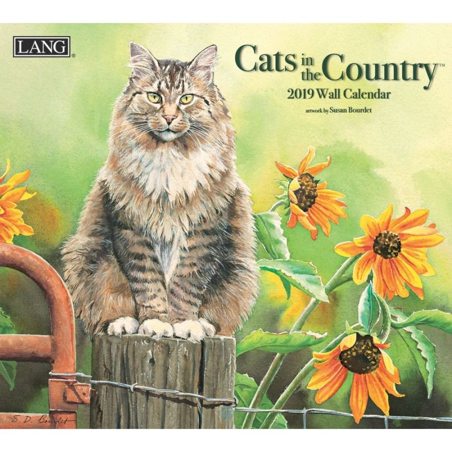 2019 Lang Calendar - Cats in the Country - Artist Susan Bourdet