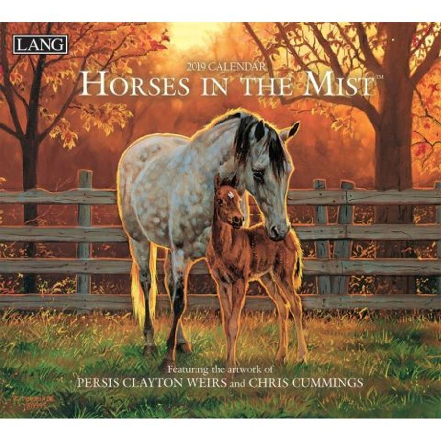 2019 Lang Calendar - Horses in the Mist - Artists Persis Clayton Weirs & Chris Cummings