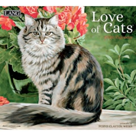 Lang Calendar - 2020 - Love of Cats - Persis Clayton Weirs
