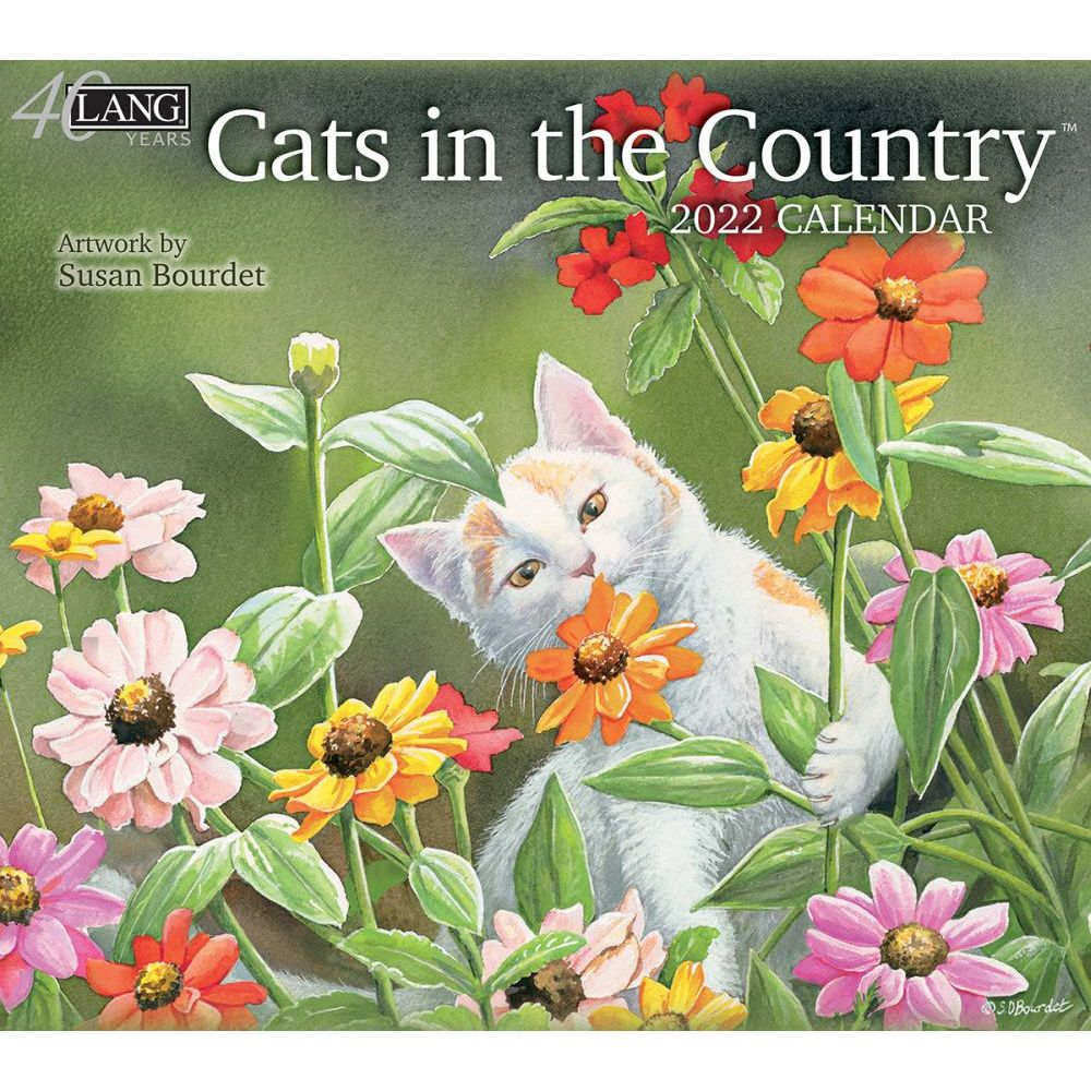 Lang Calendar - 2022 - Cats in the Country - Susan Bourdet