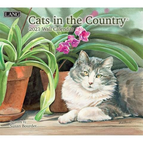 Lang Calendar - 2021 - Cats in the Country - Susan Bourdet
