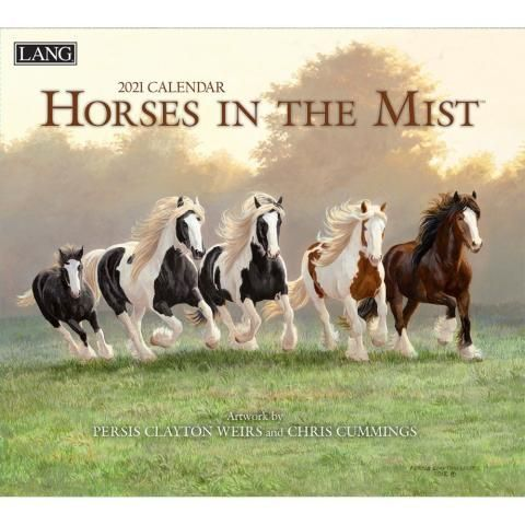 Lang Calendar - 2021 - Horses in the Mist - Weirs/Cummings