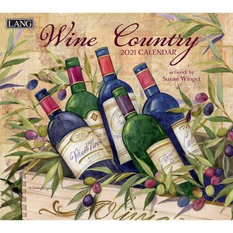 Lang Calendar - 2021 - Wine Country - Susan Winget