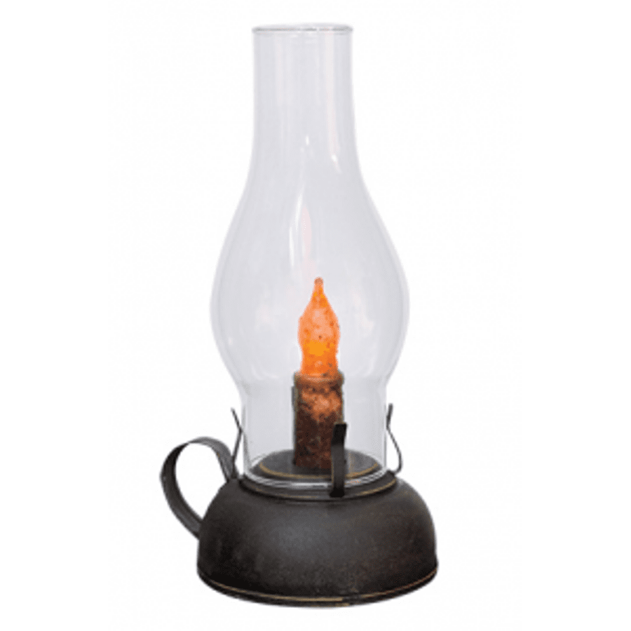 Battery-Operated Library Lantern with Timer - Black - 8.75in x 4.5in