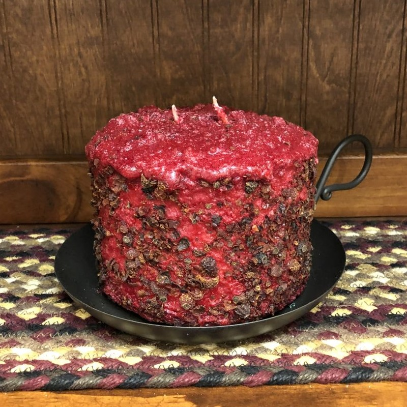 Large 3-Wick Cake Candle - Homespun Harvest - 5.5in x 4.5in