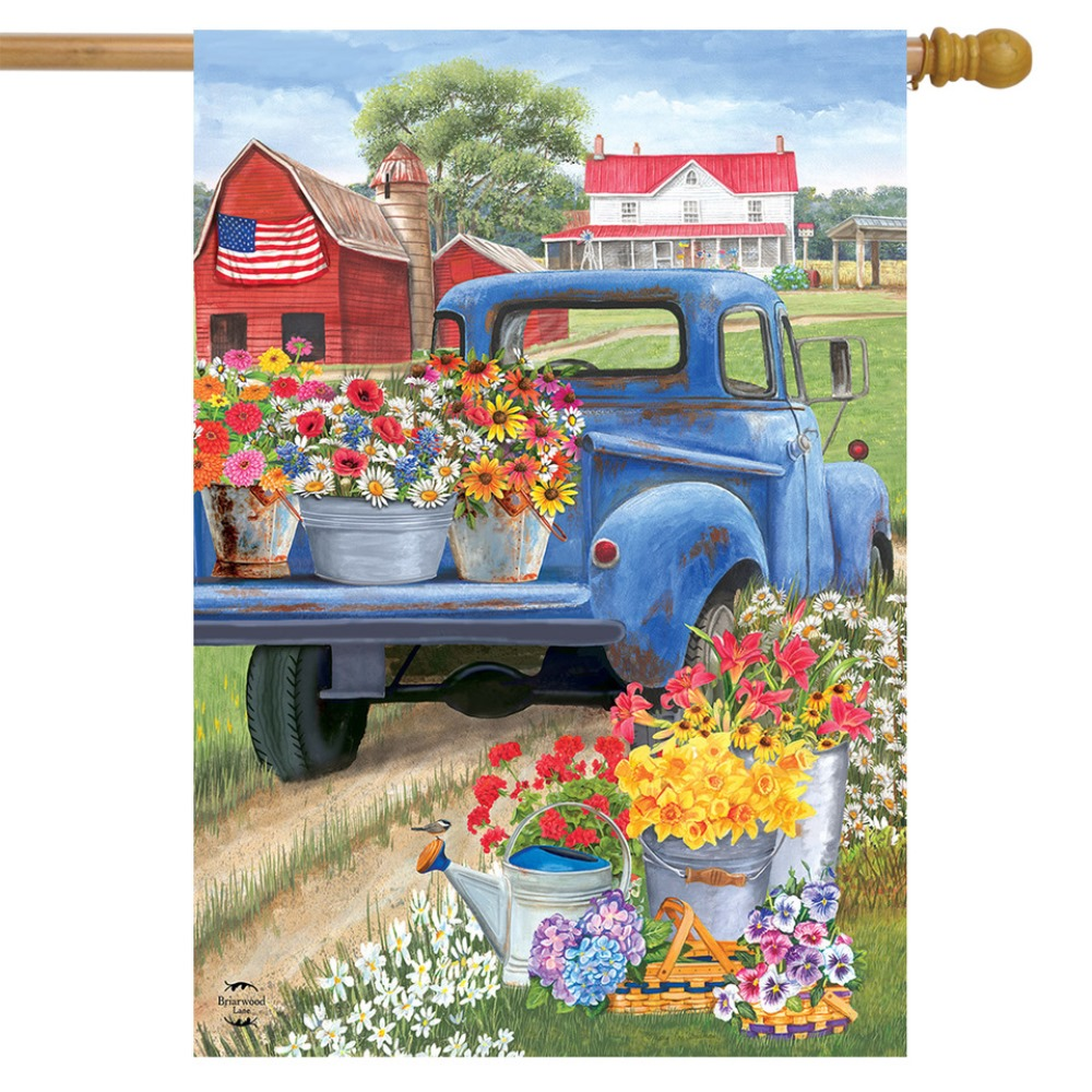 Large Outdoor Flag - Day on the Farm - 28in x 40in