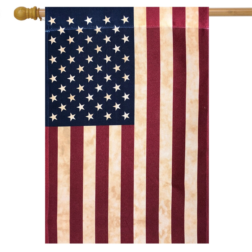 Large Outdoor Flag - Tea Stained American Flag - 28in x 40in