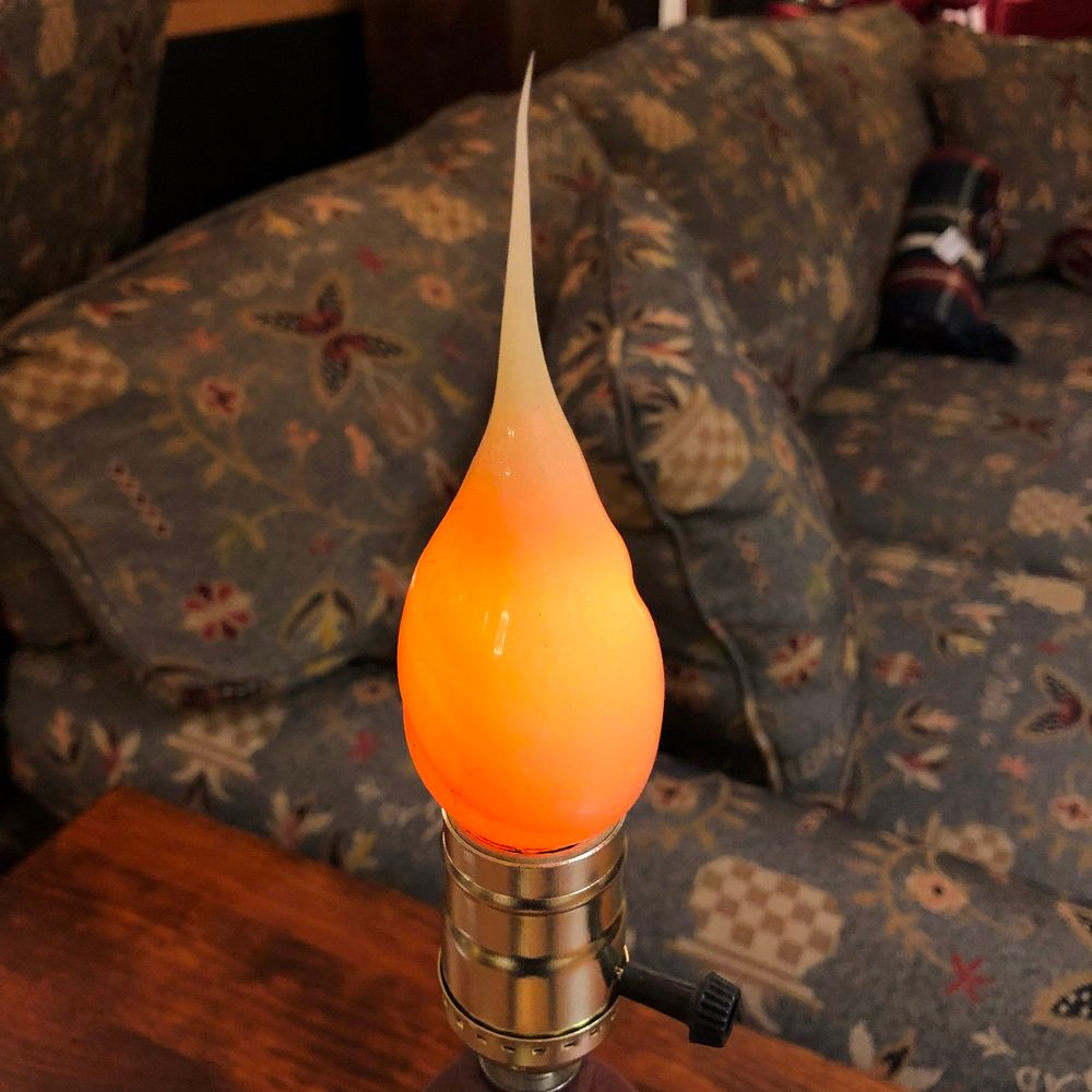 Warm Silicone Flicker Bulb - Medium E26 Base - 3-7 Watts