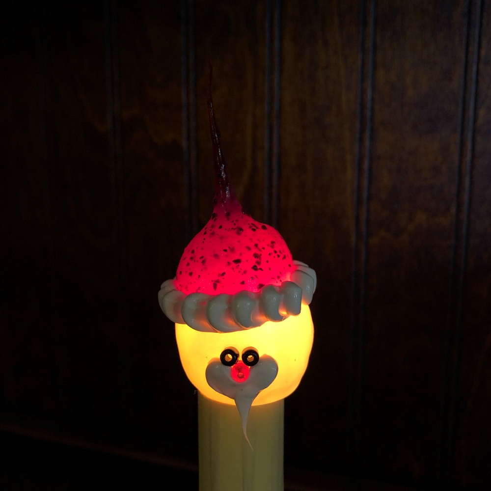Primitive Santa Light Bulb - Candelabra Base - 4 Watts