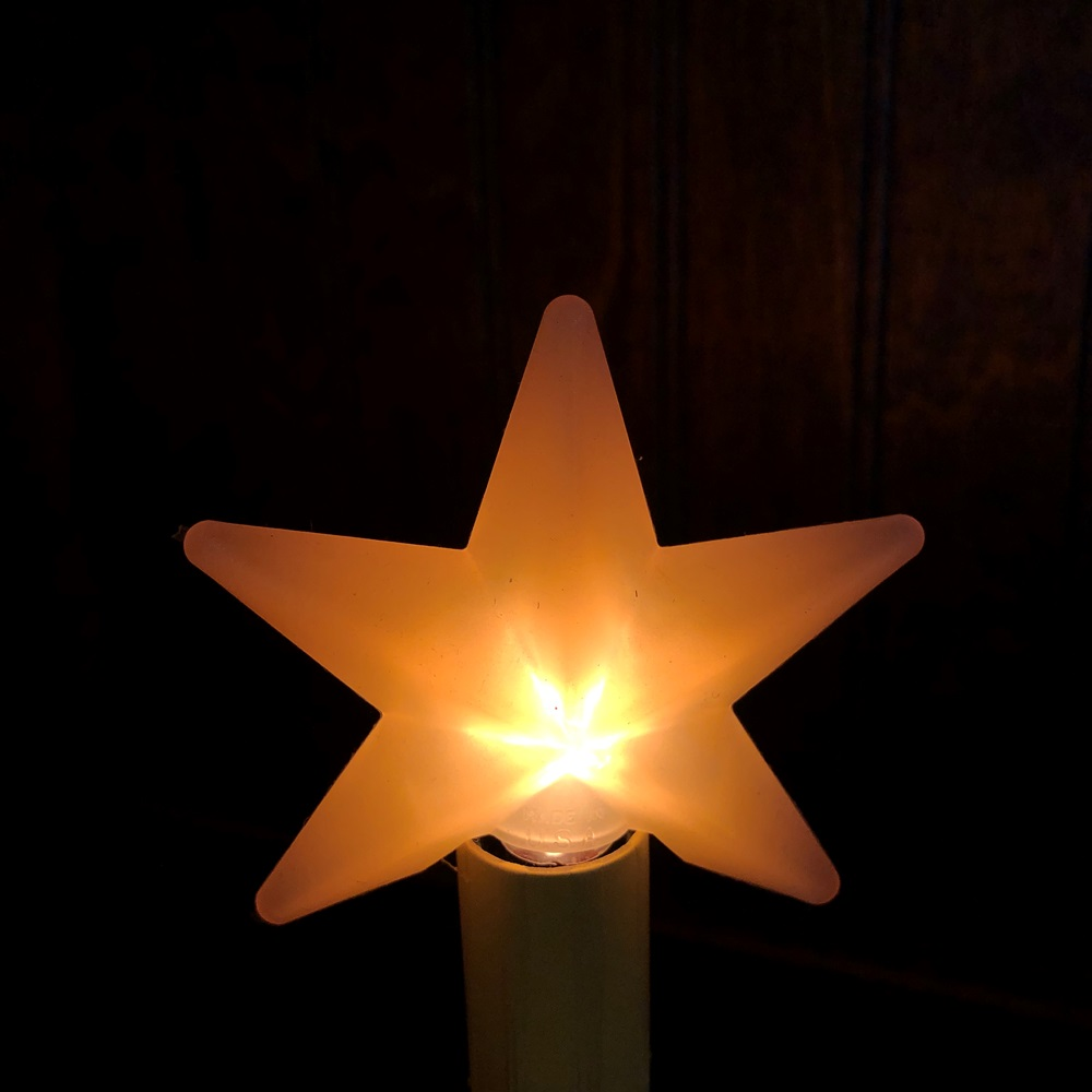 Warm Star Silicone Light Bulb - Candelabra Base - 4 Watts/3in