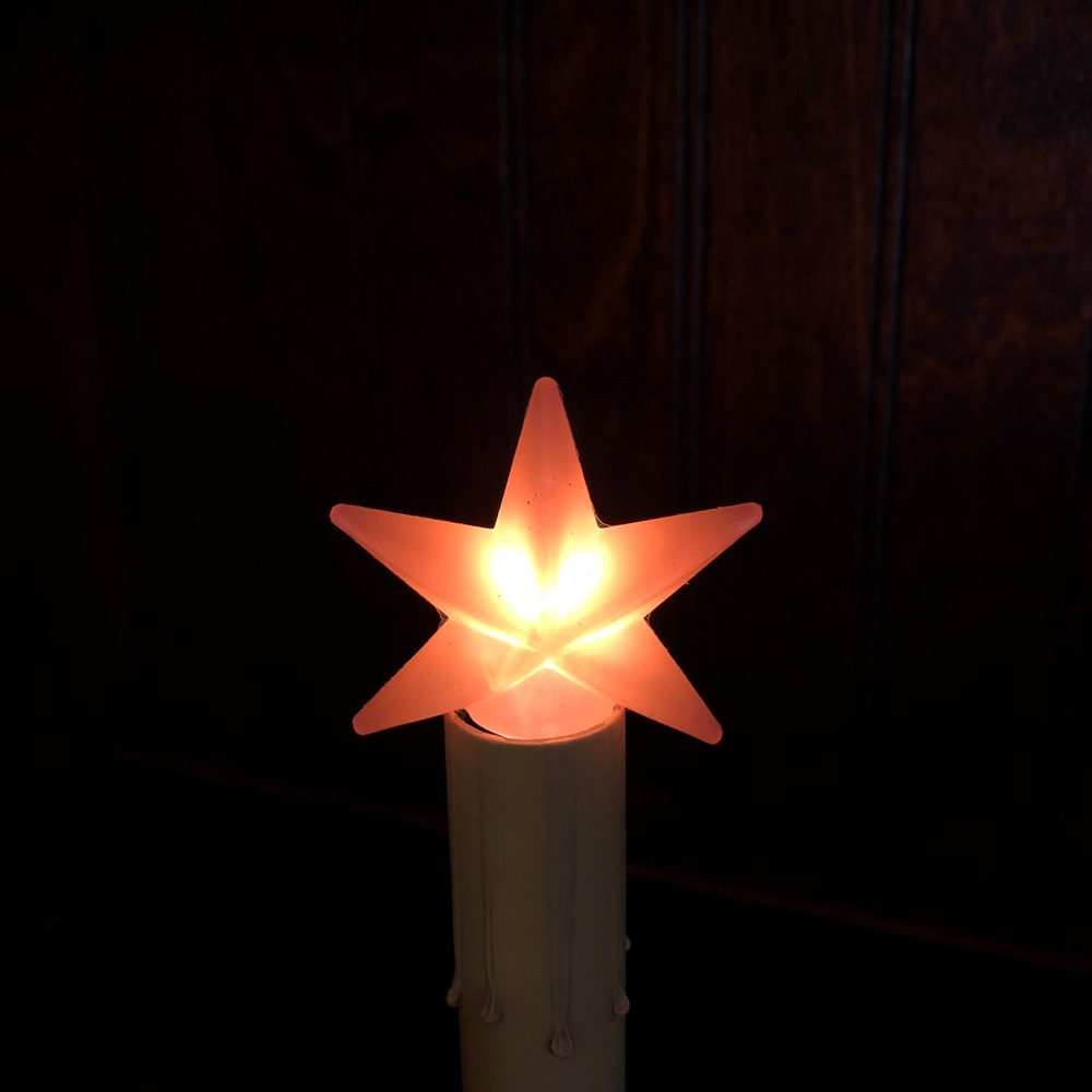 Warm Star Silicone Light Bulb - Candelabra Base - 4 Watts/1.5in