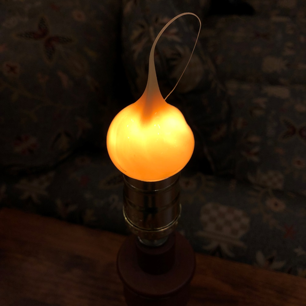 Warm Silicone Light Bulb - Medium E26 Base - 7.5 Watts