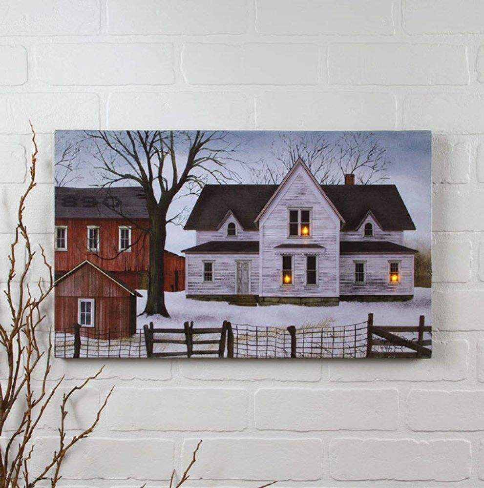 Lighted Canvas Pictures - Farmstead - 12in x 20in