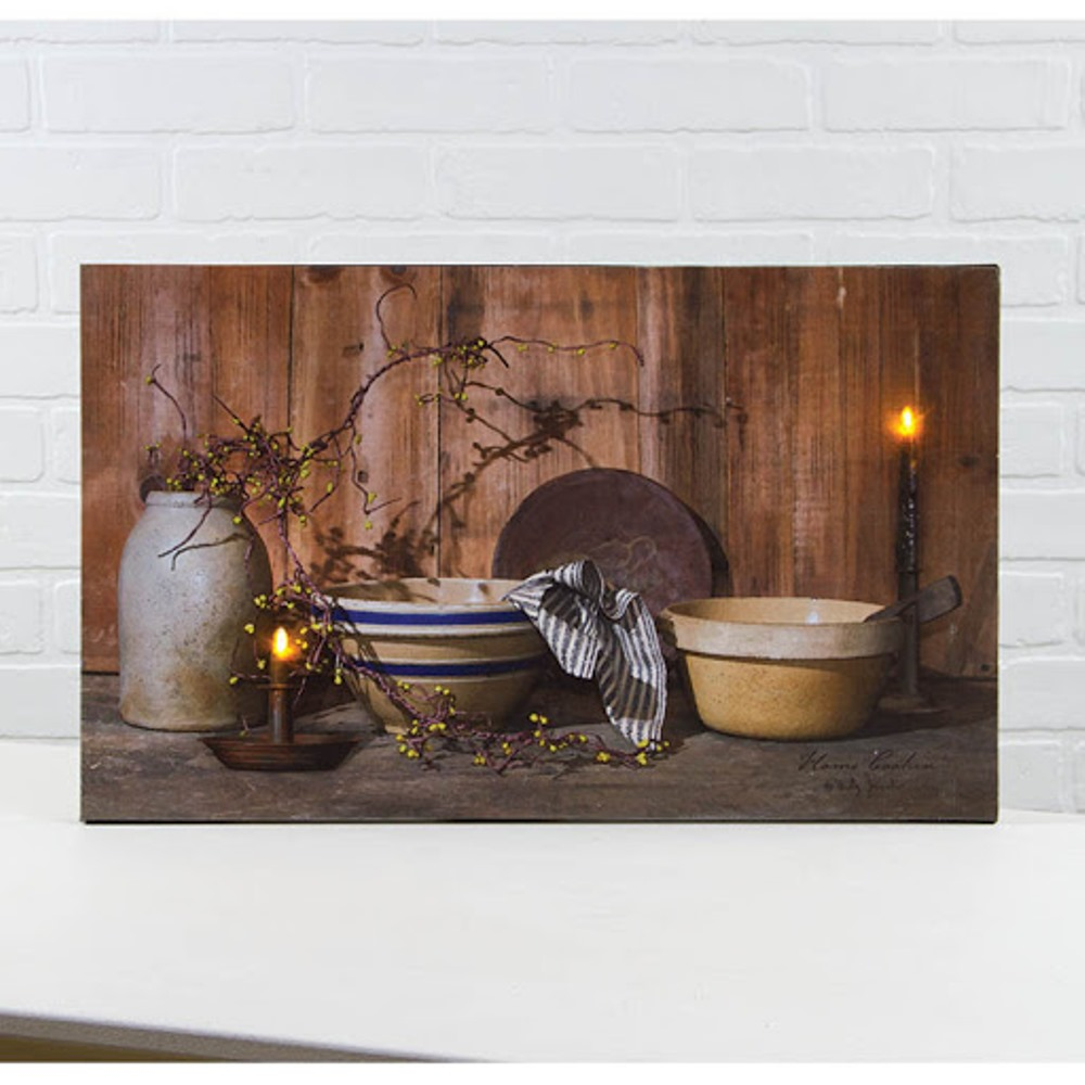Lighted Canvas Pictures - Home Cookin - 12in x 20in