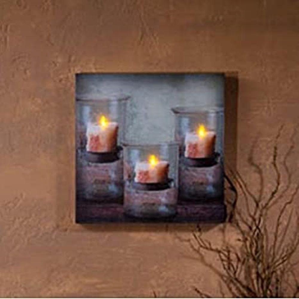 Lighted Canvas Pictures - Recycled Glass - 12in x 12in