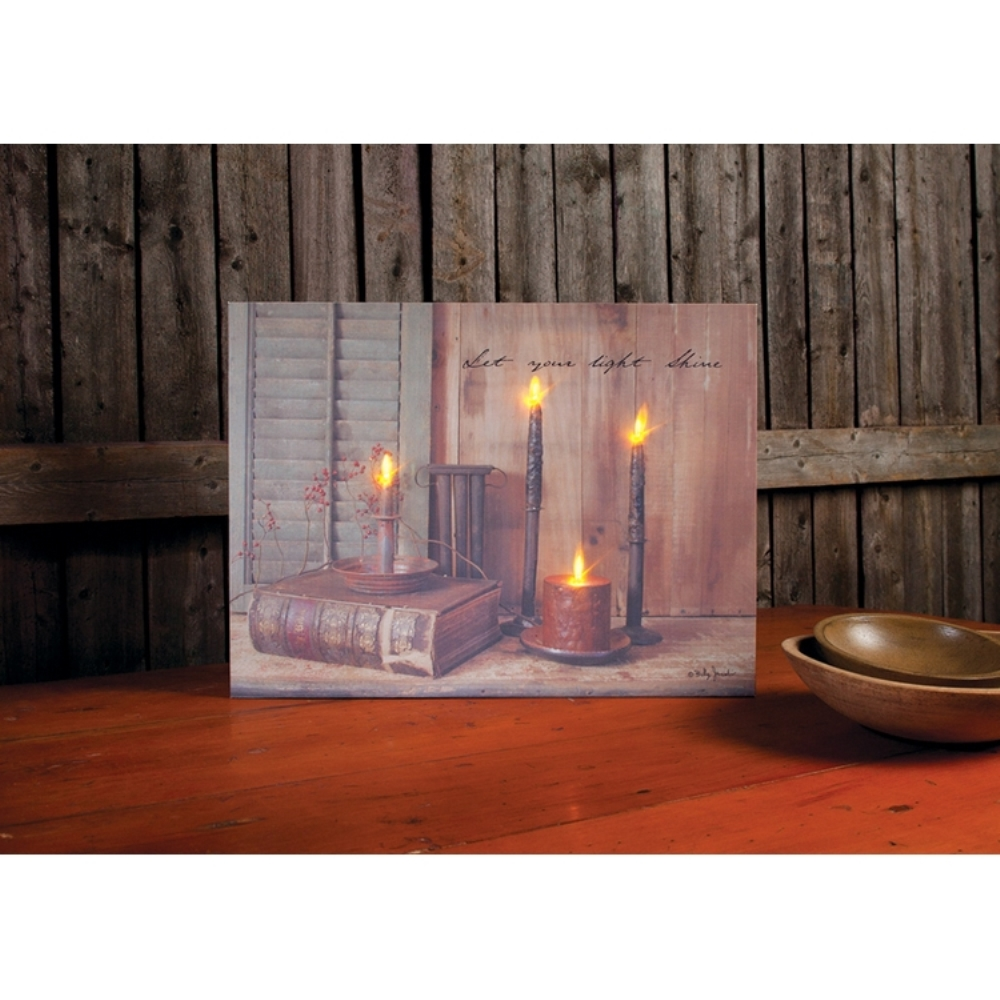 Lighted Canvas Pictures - Shine Your Light - 12in x 16in
