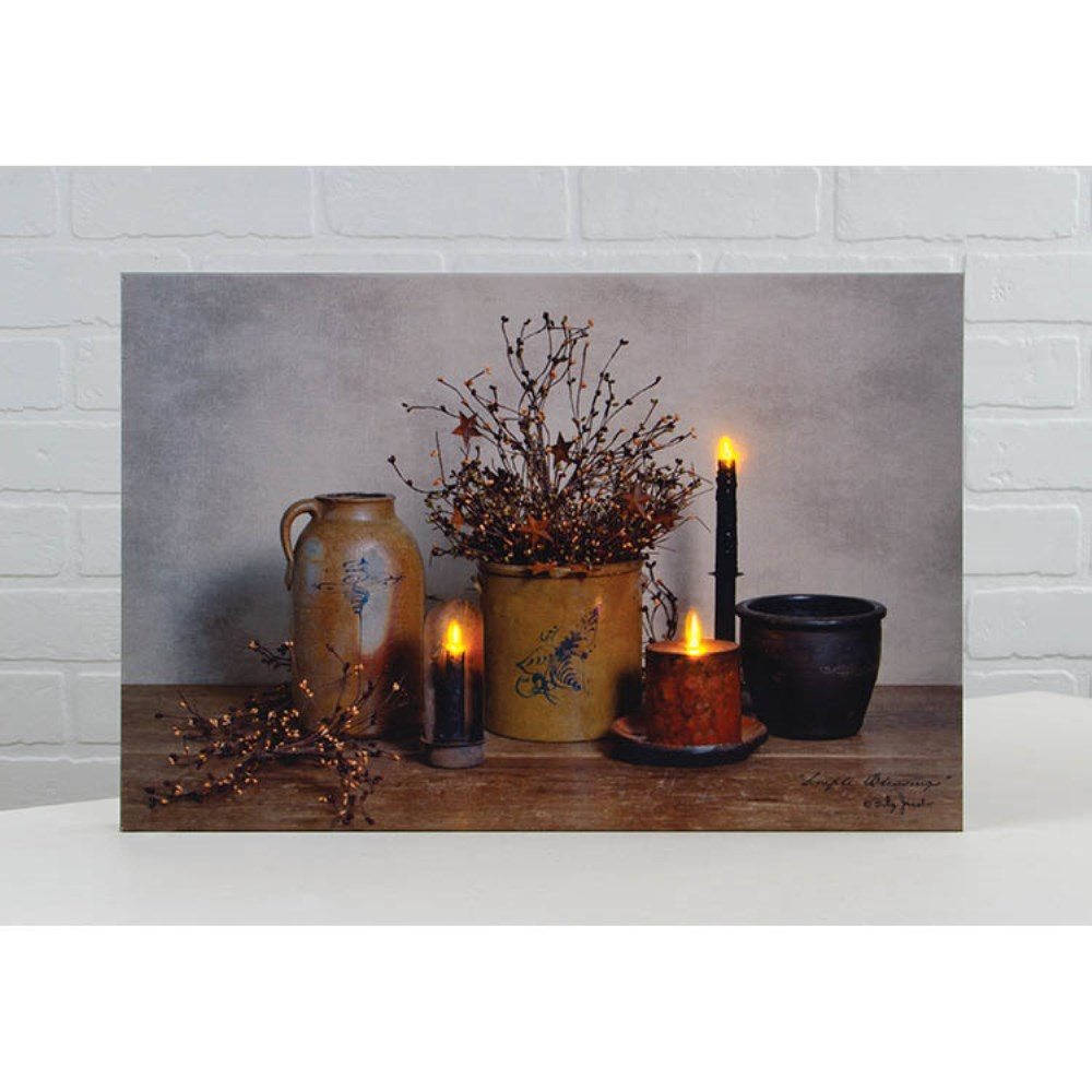 Lighted Canvas Pictures - Simple Blessings -12in x 18in