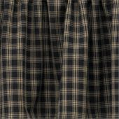 Lined Gathered Swag - Sturbridge Black - 72in x 63in