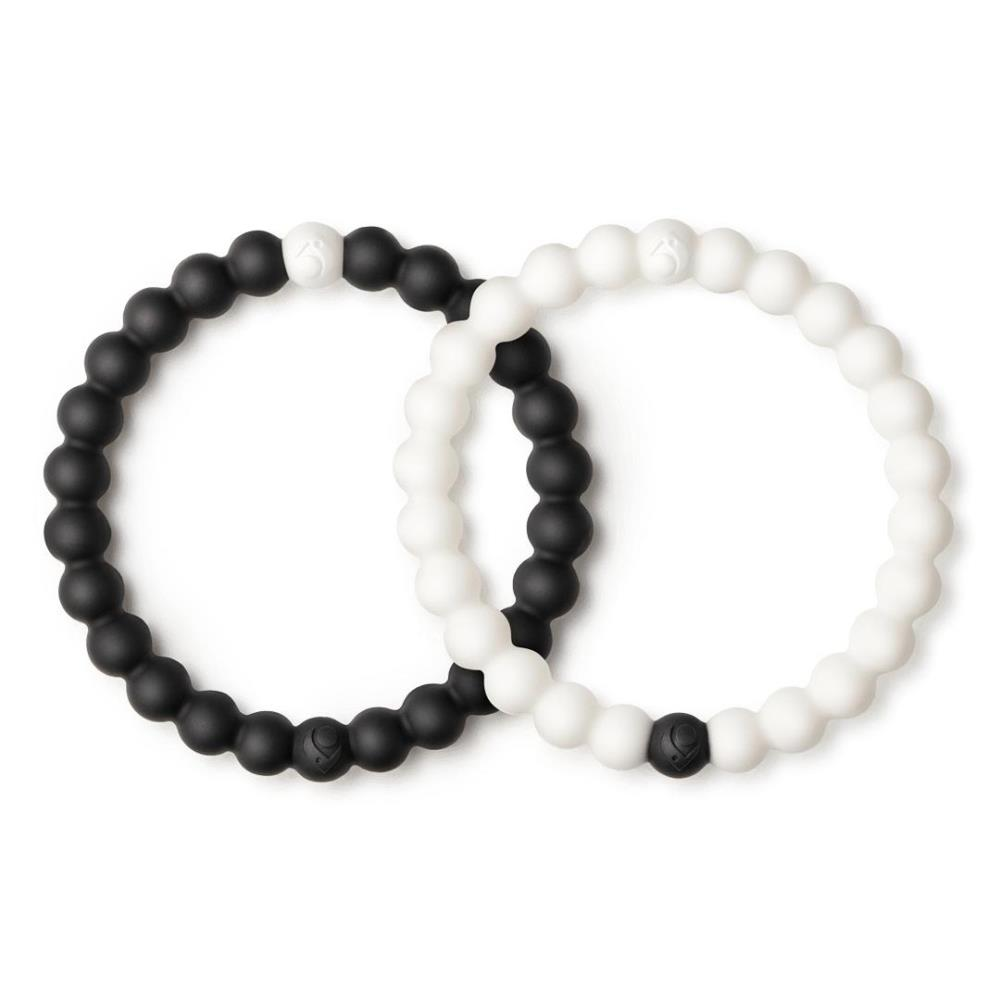 Lokai Bracelet - Black/White Set - Small