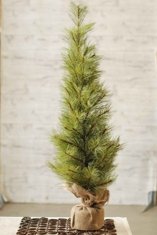 Long Needle Pine Twig Tree - Table Top Christmas Tree - 3 Foot