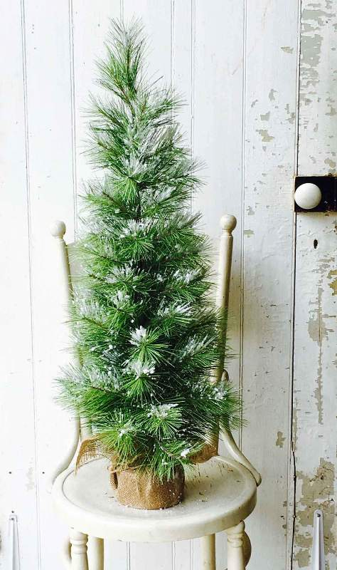 Long Needle Snow Pine Tree - Table Top Christmas Tree - 3ft