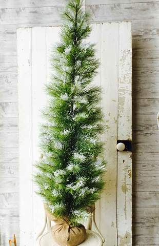 Long Needle Snow Pine Tree - Table Top Christmas Tree - 5 Foot