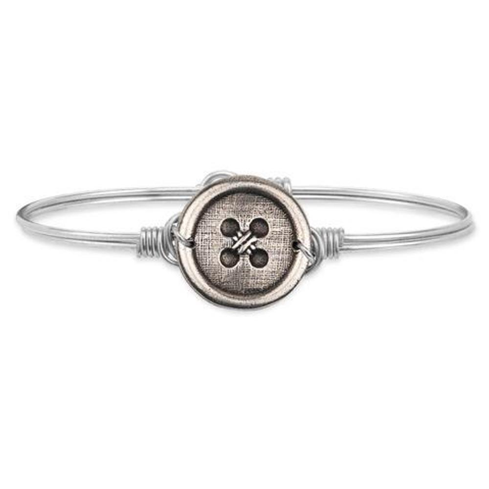 Luca + Danni Bracelet - Cute as a Button Bangle - Silver