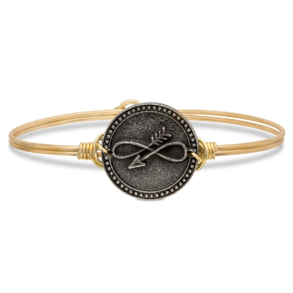Luca + Danni Bracelet - Embrace The Journey Bangle - Brass