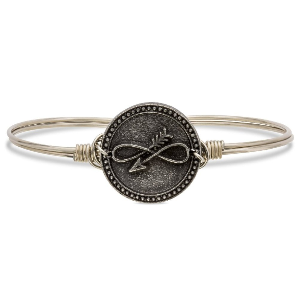 Luca + Danni Bracelet - Embrace The Journey Bangle - Silver