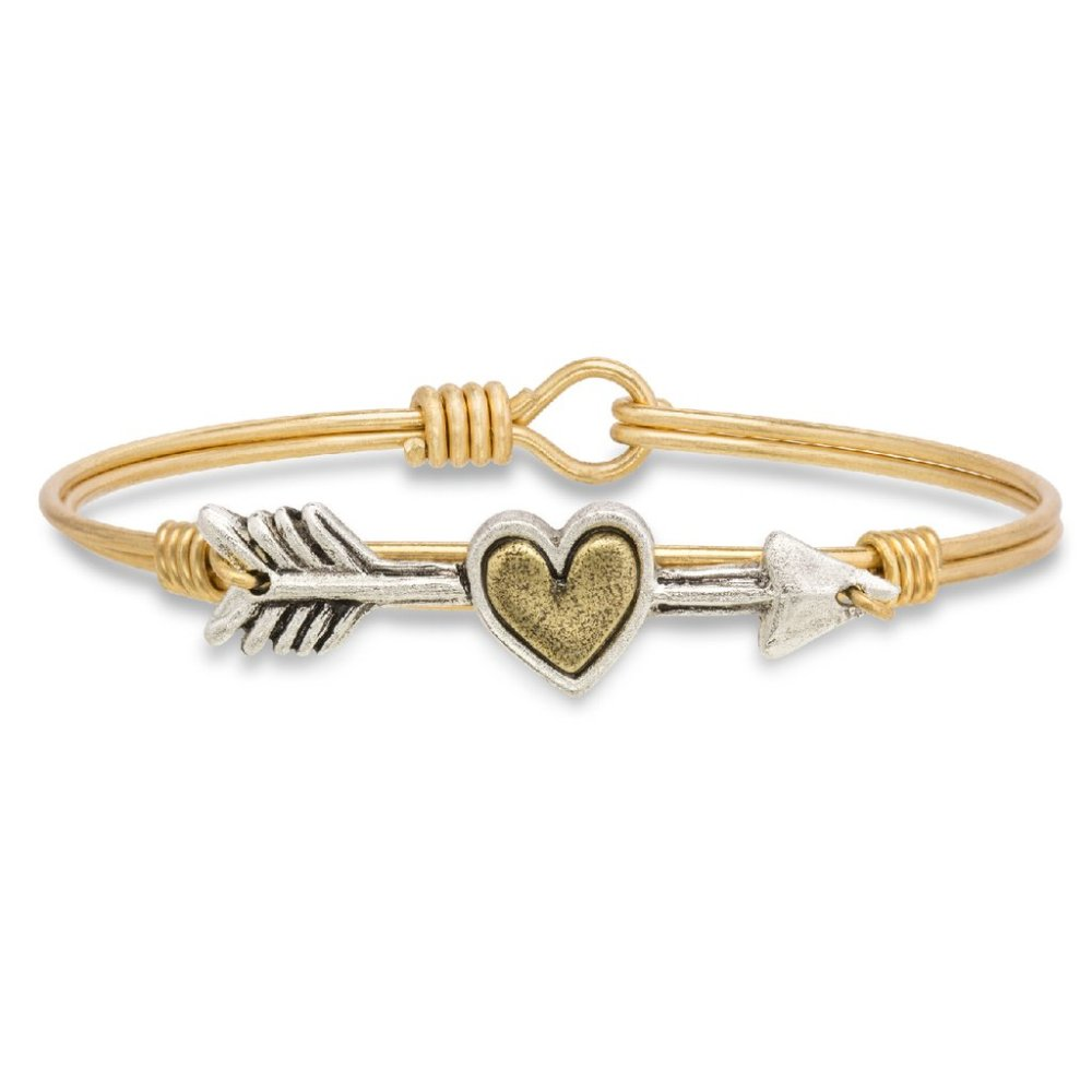 Luca + Danni Bracelet - Follow Your Heart Bangle - Brass